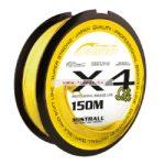 Mistrall Shiro Silk X4 Citromsárga 150m Többféle Átmérőben
