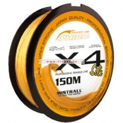 Mistrall Shiro Silk X4 Narancssárga 150m Többféle Átmérőben