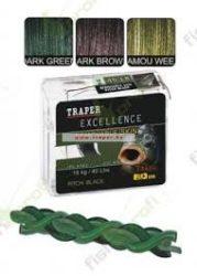 Traper Excellence FAST SINKING  Camou  30 LBS Előkezsinór 20m Többféle Színben