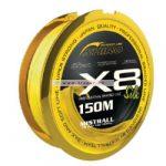 Mistrall Shiro Silk X8 Fluosárga 150m többféle átmérőben